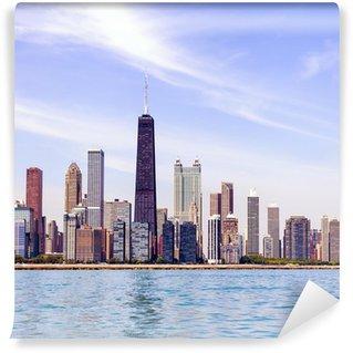 Vinylová Fototapeta Chicago Skyline s modrou Clear Sky
