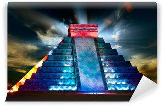 Vinylová Fototapeta Chichen Itza Mayská pyramida Night View