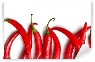 Vinylová Fototapeta Chilli papričky na bílém pozadí