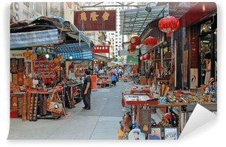 Fototapeta Winylowa Chiny, Hongkong antyczny targ