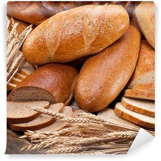Vinylová Fototapeta Chléb a pšenice. Jídlo pozadí.
