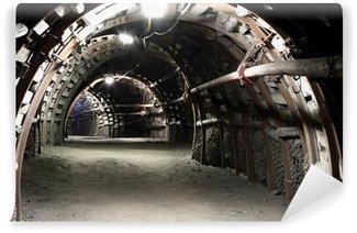 Vinylová Fototapeta Chodba v podzemí dolu