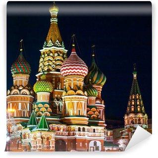 Vinylová Fototapeta Chrám Vasila Blaženého, Rudé náměstí, Moskva