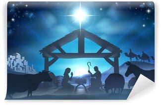 Vinylová Fototapeta Christmas nativity scene
