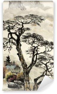 Vinylová Fototapeta Čínské krajiny se stromem