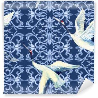 Vinylová Fototapeta Čínský akvarel bezešvé vzor