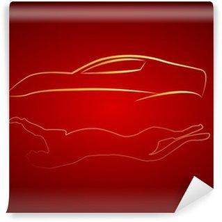 Vinylová Fototapeta Cita yansımalı Araba logosu