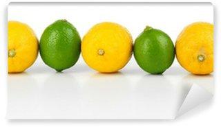 Vinylová Fototapeta Citrony a limety, izolovaných na bílém