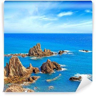 Vinylová Fototapeta Cliff skály a oceán Andalusie krajiny. Parque Cabo de Gata