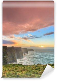 Vinylová Fototapeta Cliffs of Moher při západu slunce v hrabství Clare, Irsko