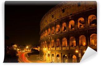 Vinylová Fototapeta Colosseum Řím Itálie v noci