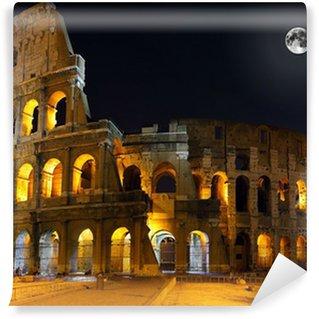 Vinylová Fototapeta Colosseum, Rome. Noční pohled