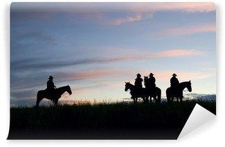Vinylová Fototapeta Cowboys Rozeznáváme jitřní oblohy. Montana Horse Ranch