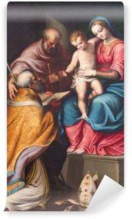 Vinylová Fototapeta Cremona, Itálie - 24.května 2016: Obraz Svaté rodiny s st. Nicholas v kostele Chiesa di Santa Agata Bernardino Campi (1522 - 1591).