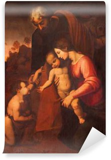 Vinylová Fototapeta Cremona, Itálie - 24.května 2016: Obraz Svaté rodiny v Chiesa di San Agostino od Maria Zupelli (16. stol.)