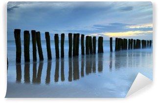 Vinylová Fototapeta Crépuscule sur la plage de Calais