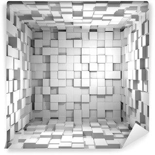 Vinylová Fototapeta Cube pokoj 3d - pozadí