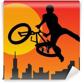 Vinylová Fototapeta Cyklista