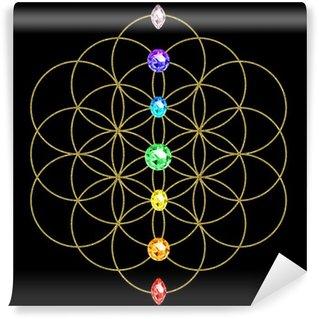 Fototapeta Vinylowa Czakra - Flower of Life - Symbol energii