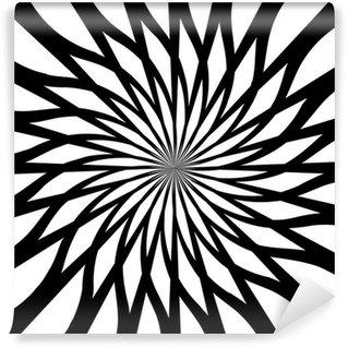 Fototapeta Winylowa Czarne i białe tło streszczenie sztuka psychodeliczny. vector illu