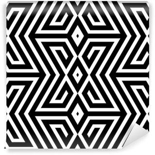 Fototapeta Winylowa Czarno-białe abstrakcyjne wektor szwu zygzak