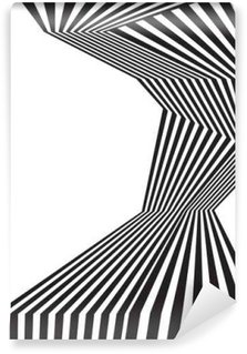 Fototapeta Winylowa Czarno-białe mobious fali optycznej abstrakcyjny wzór paskiem