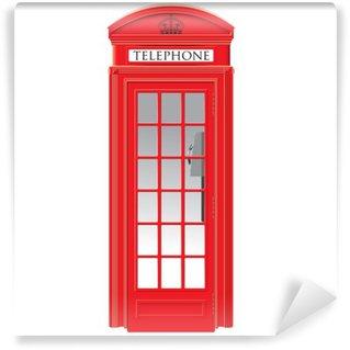 Fototapeta Vinylowa Czerwona budka telefoniczna - londyn - wektor