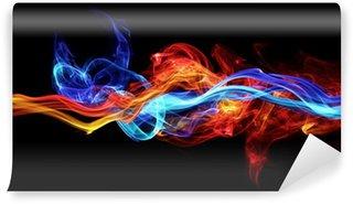 Fototapeta Winylowa Czerwony i niebieski dym
