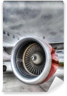 Fototapeta Winylowa Czerwony samolot silnika