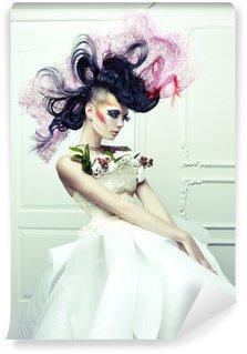 Vinylová Fototapeta Dáma s avantgardní vlasy