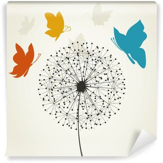 Fototapeta Vinylowa Dandelion i butterfly