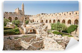 Vinylová Fototapeta Davidova věž v Jeruzalémě, Izrael