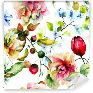 Vinylová Fototapeta Dekorační divokých květin