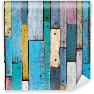 Vinylová Fototapeta Dekorativní a barevné dřevěné prkna