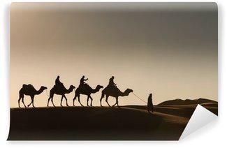 Vinylová Fototapeta Desert, Camel Ride, se těší a šťastní lidé