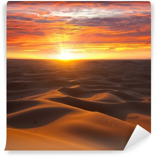 Vinylová Fototapeta Desert na západ slunce