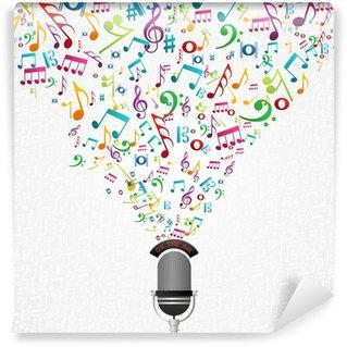 Vinylová Fototapeta Design Noty mikrofon
