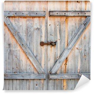 Vinylová Fototapeta Detail dřevěné stodoly