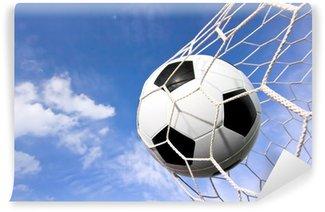 Vinylová Fototapeta Detailní záběr na fotbalový míč (fotbal) směrem do zadní části