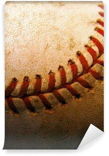 Vinylová Fototapeta Detailní záběr na staré, použité baseball