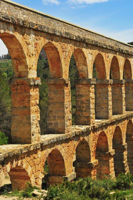 Fototapeta Winylowa Diabelski Most rzymski akwedukt w Tarragona, Hiszpania - Tematy