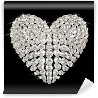 Vinylová Fototapeta Diamant srdce