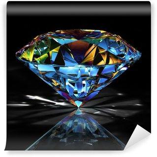 Vinylová Fototapeta Diamantové šperky na černém pozadí