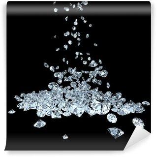 Vinylová Fototapeta Diamanty na černé