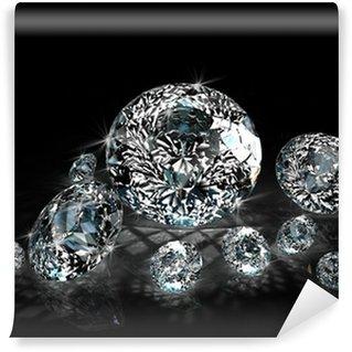 Vinylová Fototapeta Diamanty na černém pozadí