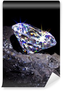 Vinylová Fototapeta Diamond na uhlí