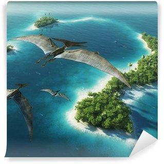 Vinylová Fototapeta Dinosauři přírodního parku. Jurassic Period