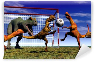 Fototapeta Winylowa Dinozaur football