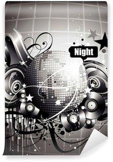 Vinylová Fototapeta Disco noc vektor