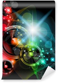 Vinylová Fototapeta Disco událost pozadí